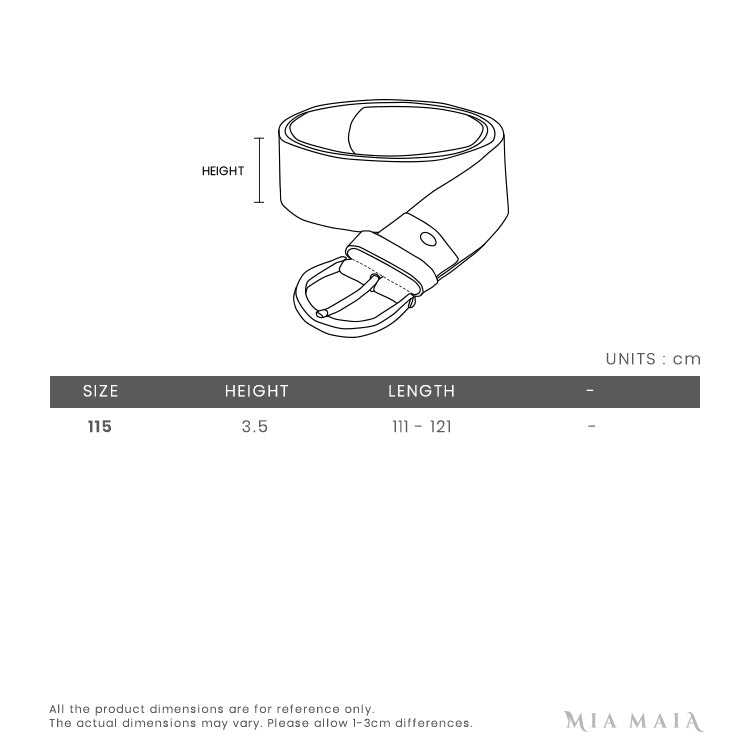 Salvatore Ferragamo Adjustable Gancini Belt Box | Size Chart | Mia-Maia.com