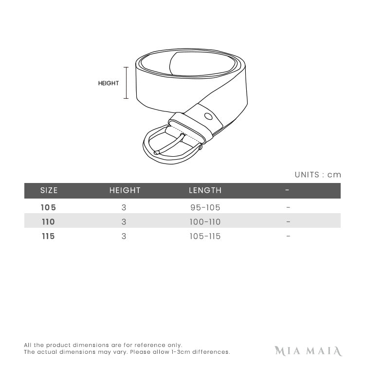 Salvatore Ferragamo Adjustable Gancini Belt | Size Chart | Mia-Maia.com