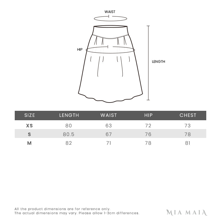 GCDS Embroidered Logo Midi Dress | Size Chart | Mia-Maia.com