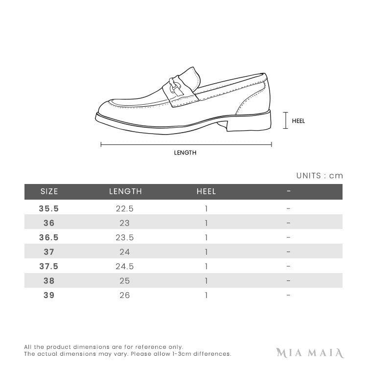 Gucci GG Buckle Leather Mules | Size Chart