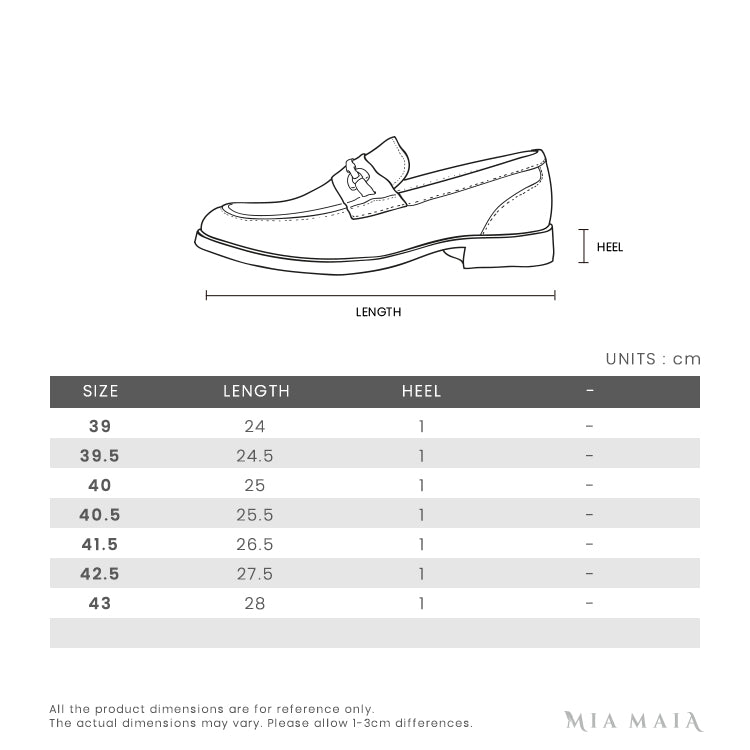 Gucci Leather Horsebit Loafers with Web | Size Chart | Mia-Maia.com