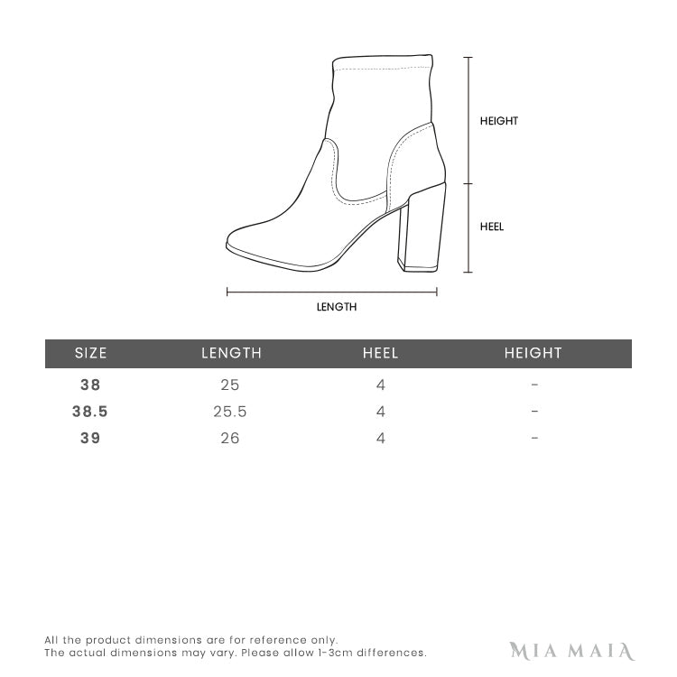 Guidi Violet Blue Leather Front Zip Ankle Boot | Size Chart | Mia-maia.com