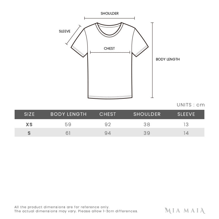 Givenchy Vintage logo S/S T-shirt | Size Chart