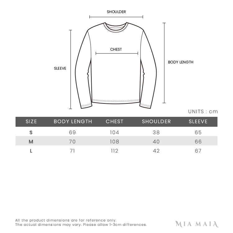Givenchy 3 Star Patches L/S Wool Sweater | Size Chart