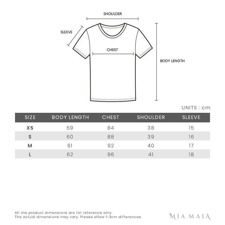 Kenzo INDONESIAN FLOWER Tiger T-shirt | Size Chart