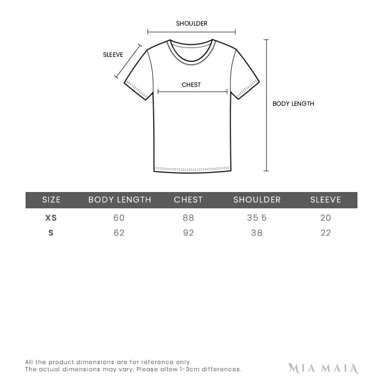 Kenzo 'Passion Flower' Tigher T-shirt | Size Chart | Mia-Maia.com