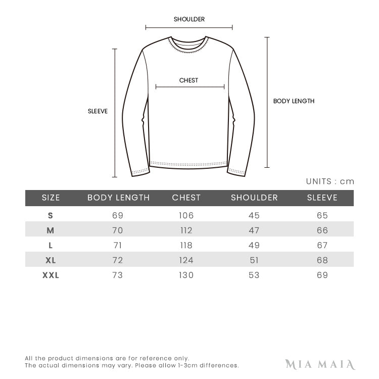 Kenzo Signature Eye Embroidered L/S Sweatshirt | Size Chart