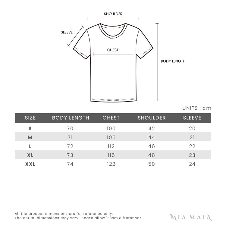 Kenzo Signature Tiger Printed S/S T-shirt | Size Chart