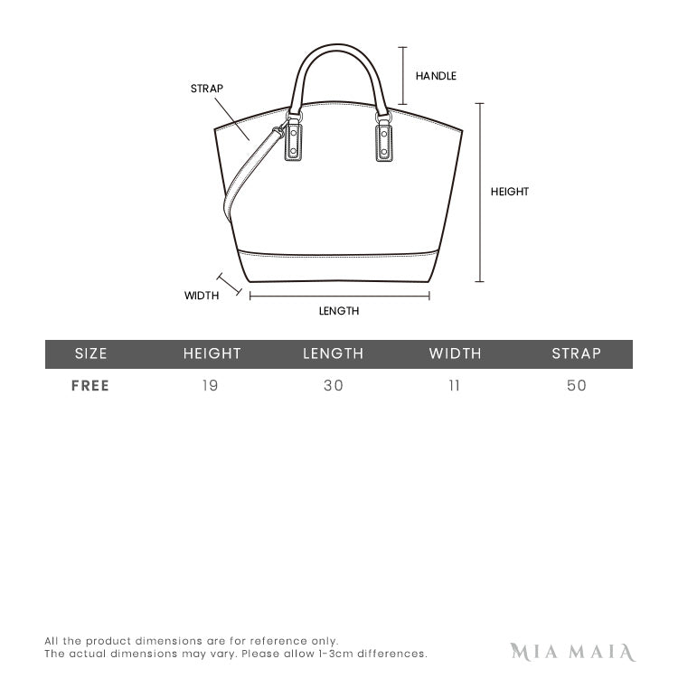Michael Kors Crosby Medium Pebbled Leather Shoulder Bag | Size Chart | Mia-Maia.com