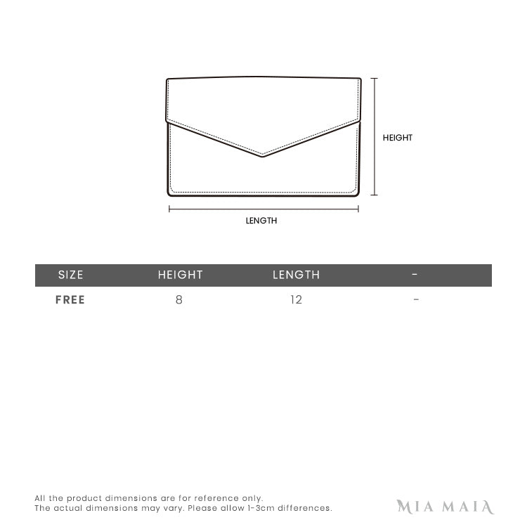 Michael Kors Small Leather Envelope Wallet | Size Chart | Mia-Maia.com