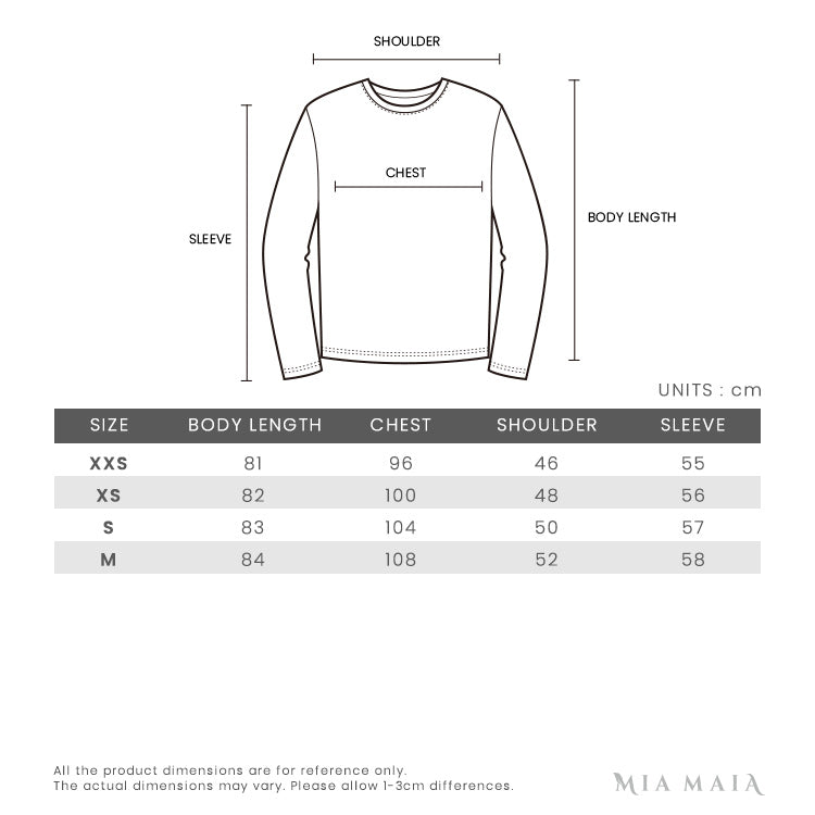 Moschino Bear Wool Knitted L/S Tunic | Size Chart
