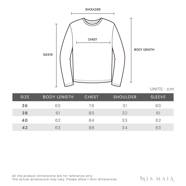 N°21 Contrast Logo Knit Top | Size Chart