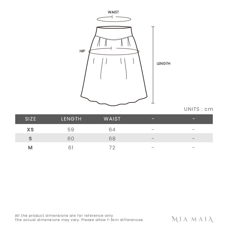 P.A.R.O.S.H. Tulle Skirt | Size Chart