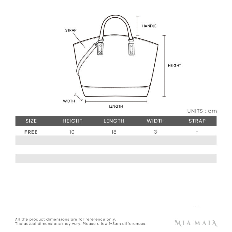 Prada Saffiano Leather Mini-bag | Size Chart | Mia-Maia.com