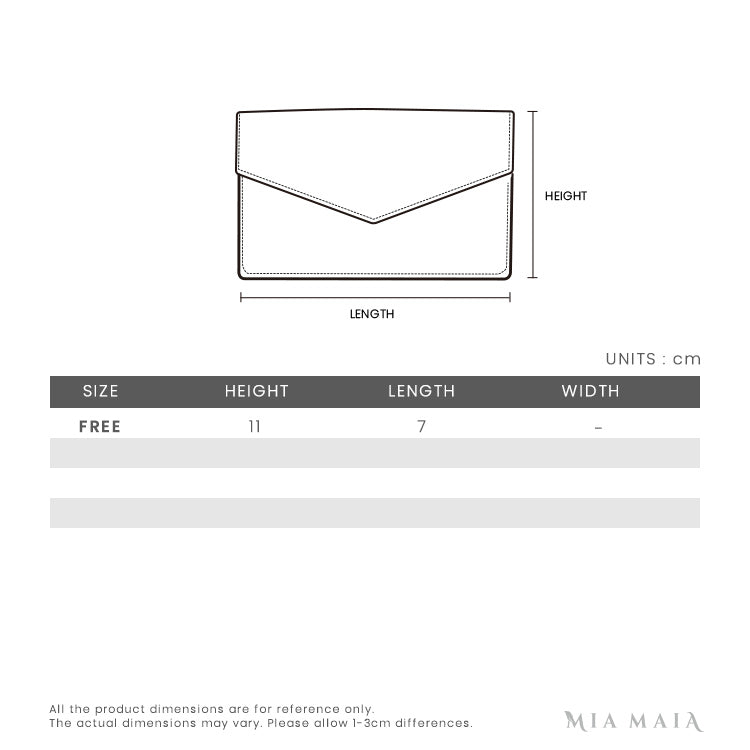 Prada Leather Card Holder | Size Chart | Mia-Maia.com