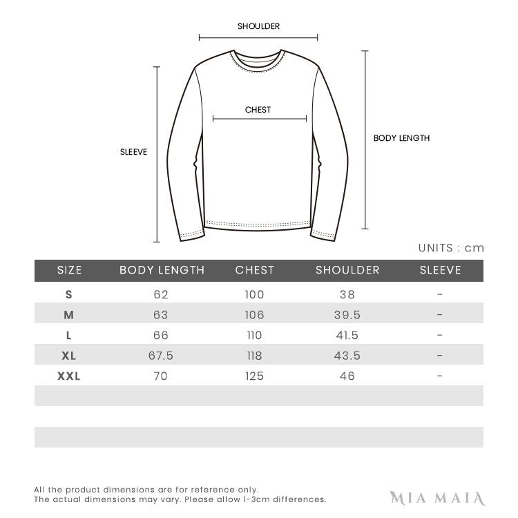 Sail Racing Race Heavy Down Vest | Size Chart | Mia-Maia.com