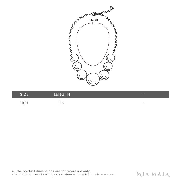 Swarovski Magic Necklace | Size Chart | Mia-Maia.com
