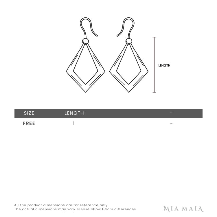Swarovski Creativity Circle Pierced Earrings | Size Chart | Mia-maia.com