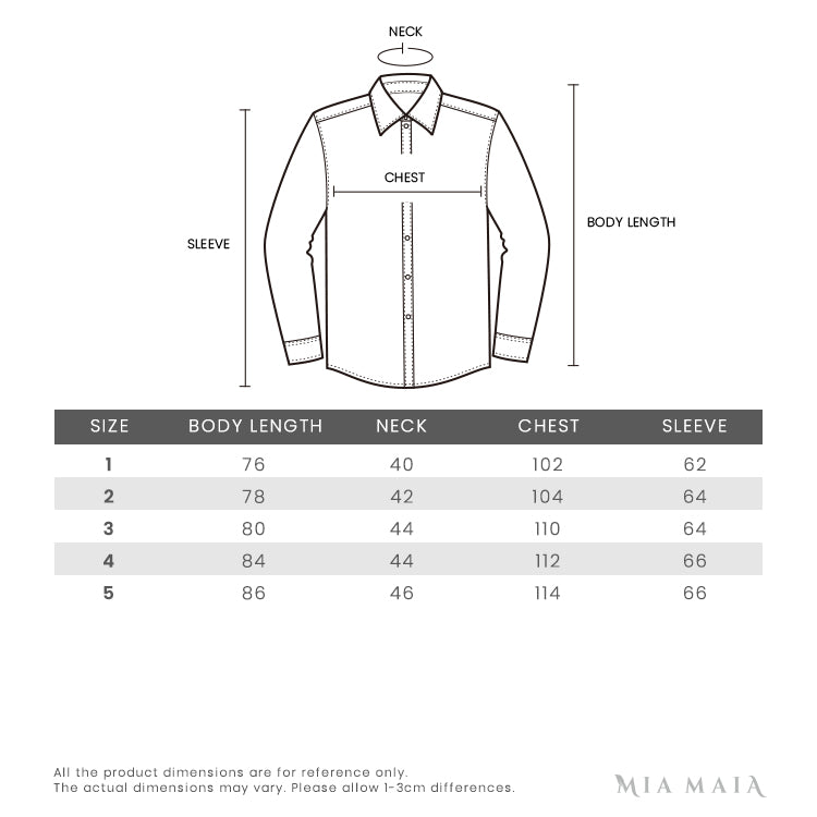 Thom Browne Signature Stripped Armbands Oxford Shirt | Size Chart | Mia-Maia.com