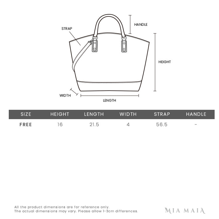 Tory Burch Robinson Convertible Shoulder Bag | Size Chart | Mia-Maia.com