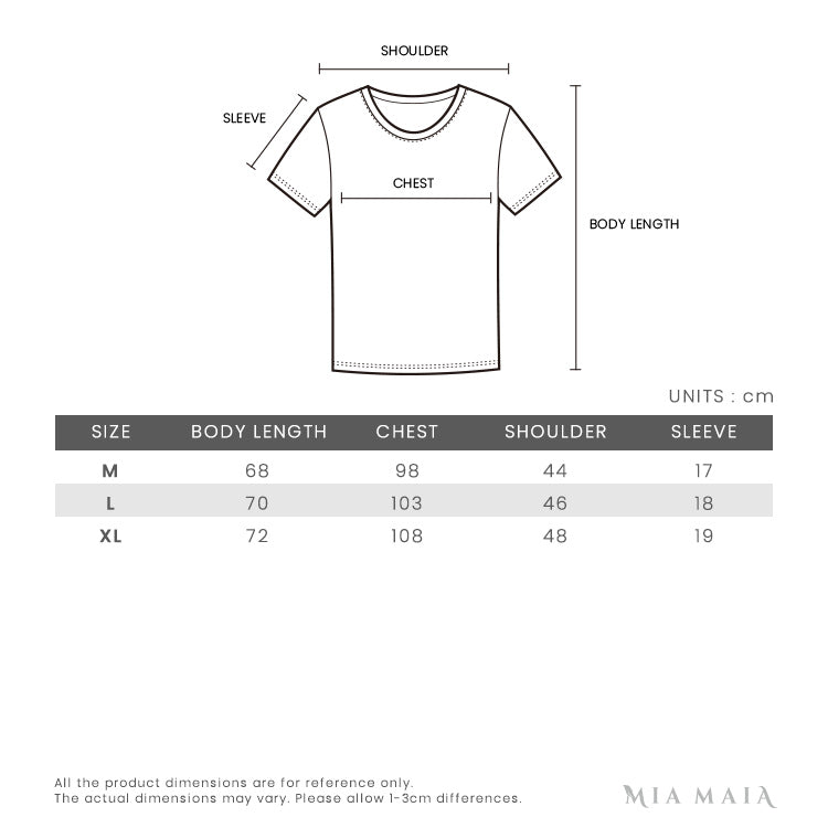 Valentino LOVE Studded S/S T-shirt | Size Chart