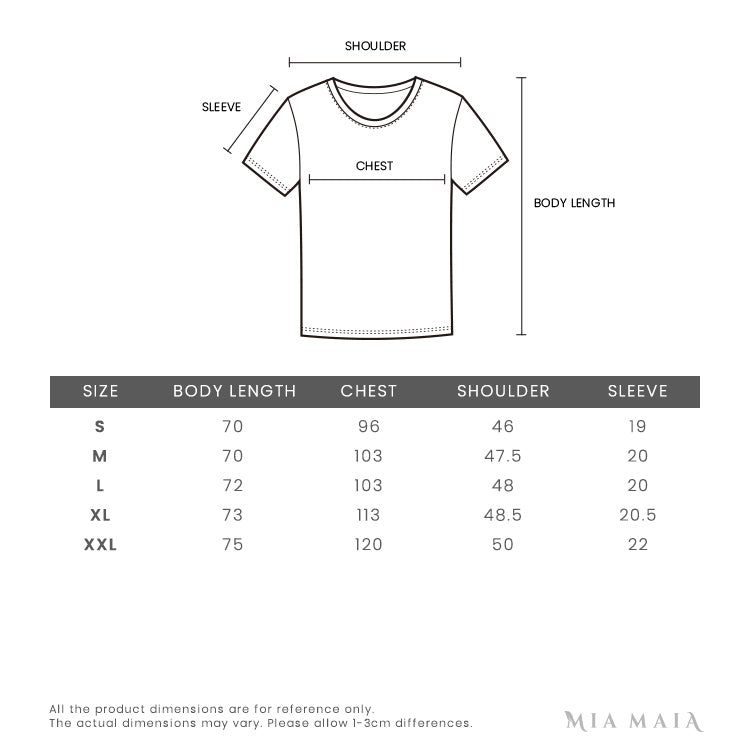 Versace Jeans Couture logo Print T-shirt | Size Chart | Mia-Maia.com