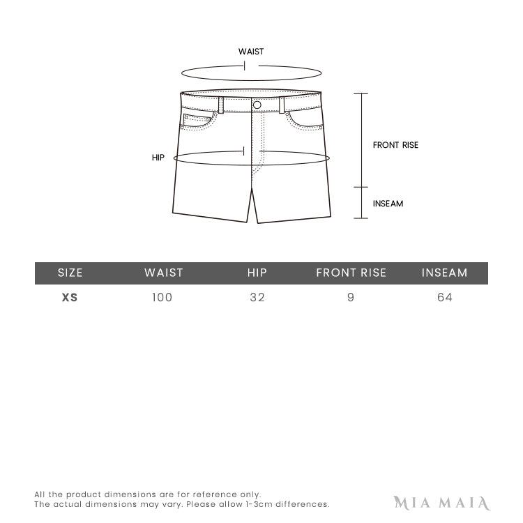 We11done Metallic logo print shorts | Size Chart | Mia-maia.com