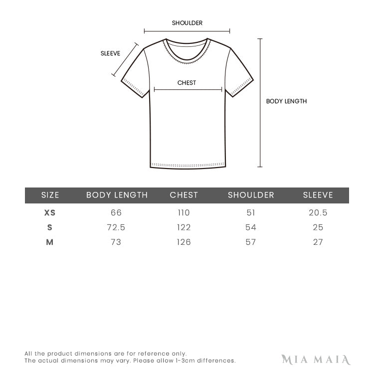 We11done Logo Patch Oversize T-shirt | Size Chart | Mia-maia.com