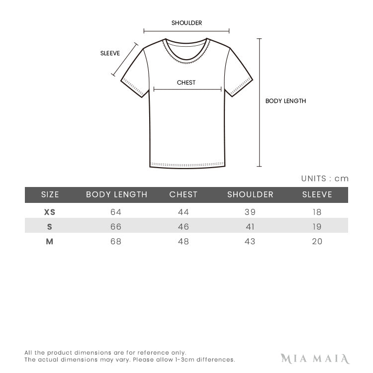 Off-White Marker Arrows Print S/S T-shirt | Size Chart