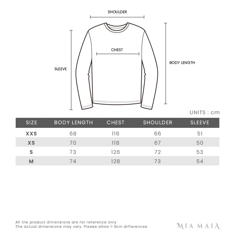 Off-White Diagonal Stripes Logo Knit Sweater | Size Chart