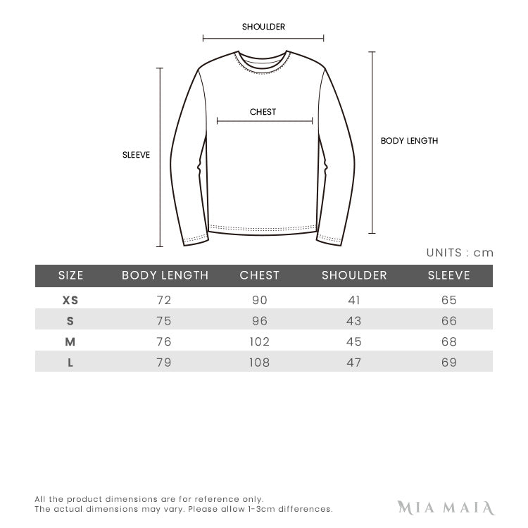 Off-White Spray Print L/S T-Shirt | Size Chart