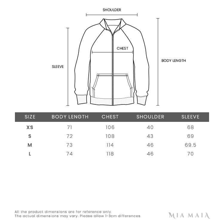 Off-White Blue arrows denim Shirt | Size Chart | Mia-maia.com