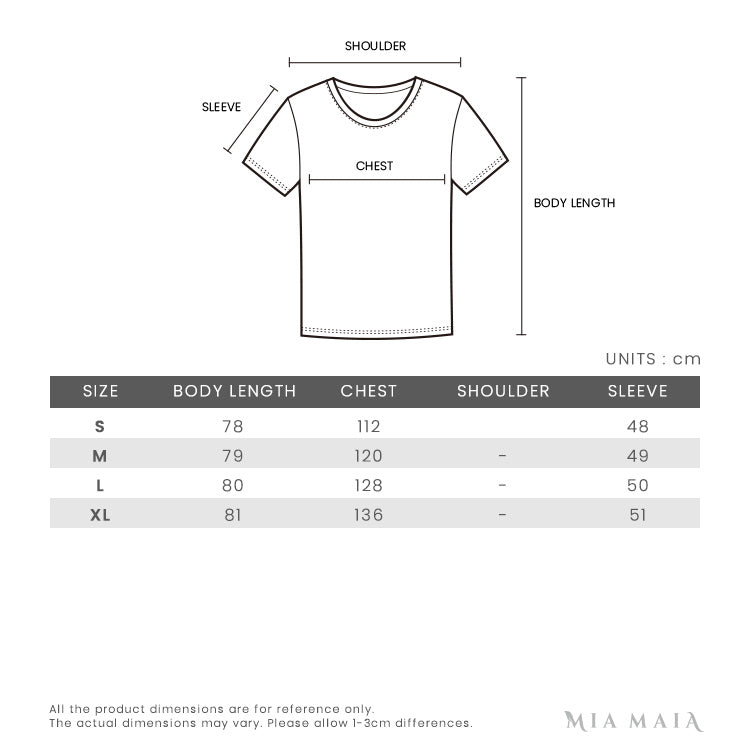 Y-3 Signature Short Sleeve Tee Shirt | Size Chart