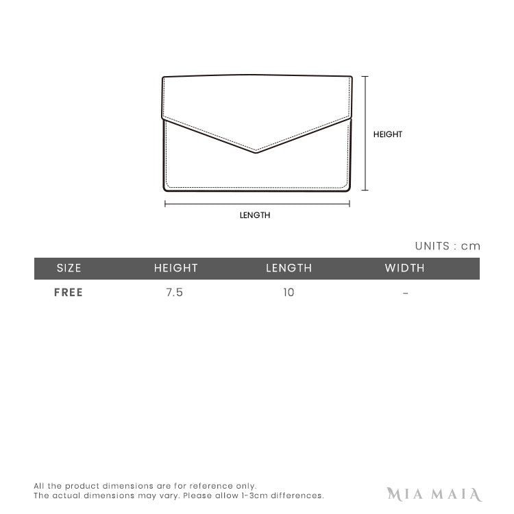 Saint Laurent Monogram Card Holder | Size Chart | Mia-Maia.com