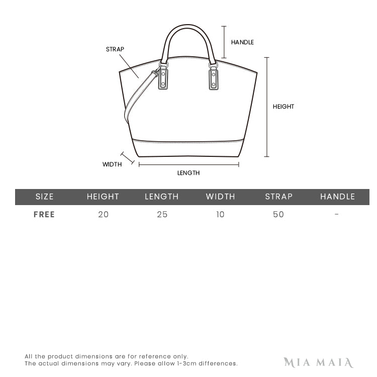 Saint Laurent Niki Monogram Bag | Size Chart | Mia-maia.com