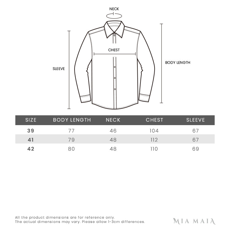 Ermenegildo Zegna Regular Collar Mirco Stripe L/S Dress Shirt | Size Chart | Mia-Maia.com