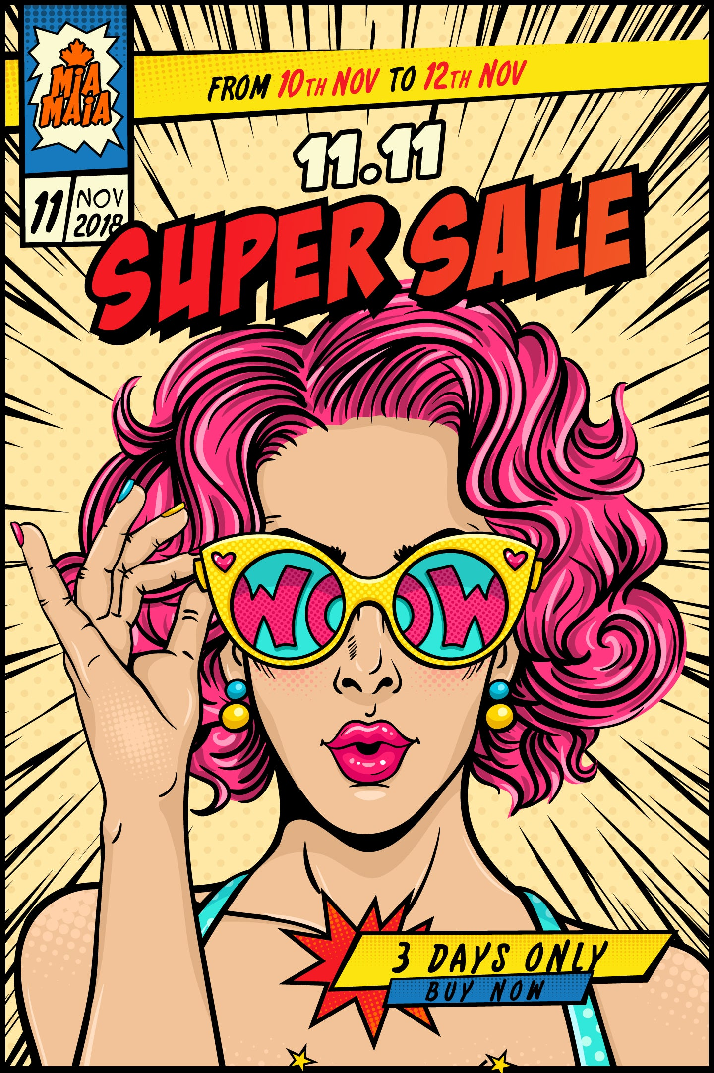 Double 11 Super Sale 2018 | Mia-Maia.com