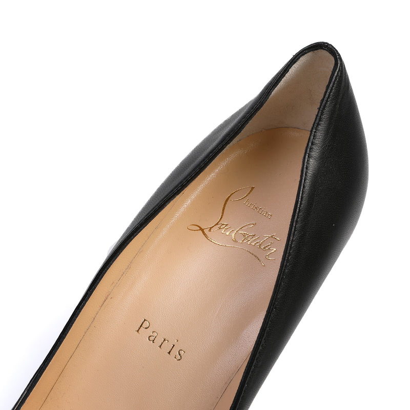 Pigalle 85 Black Leather Pumps