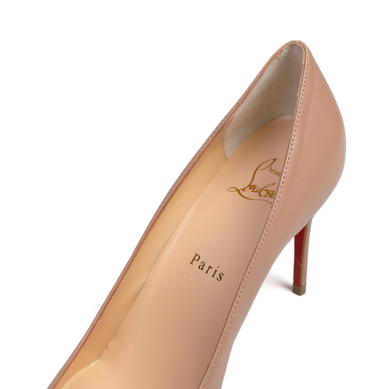 Kate 85 Nude Leather Pumps