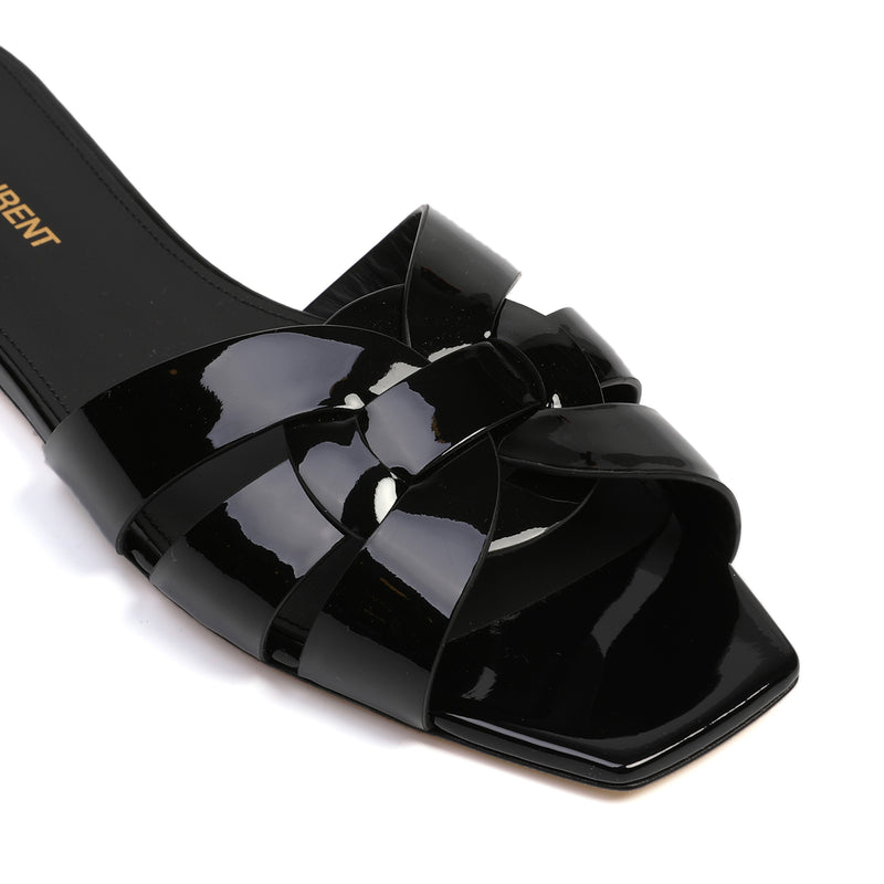 Tribute Flat Sandals in Patent Leather