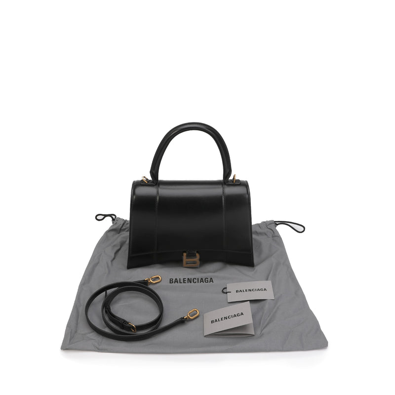 Hourglass Medium Top Handle Bag