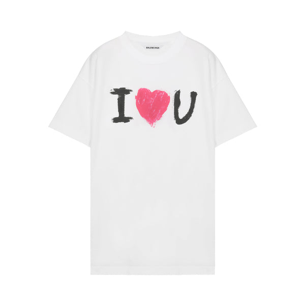 I Love You print T-shirt