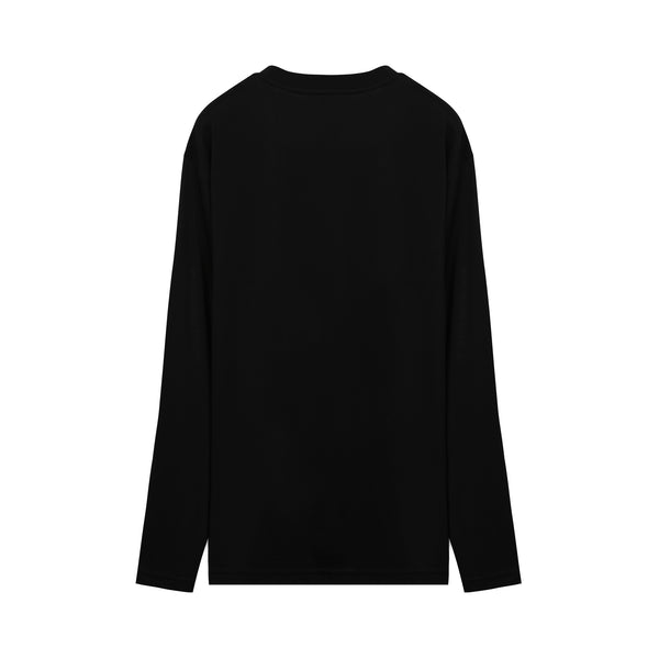 Long-sleeve Logo Oversized T-shirt