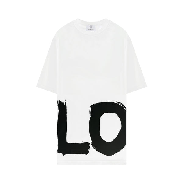 Love Print Oversized T-shirt in White