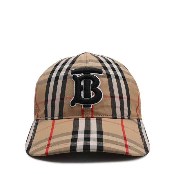 Monogram Motif Vintage Check Cotton Baseball Cap