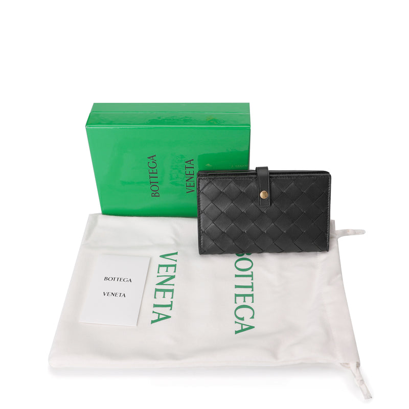 Intrecciato Weave French Wallet