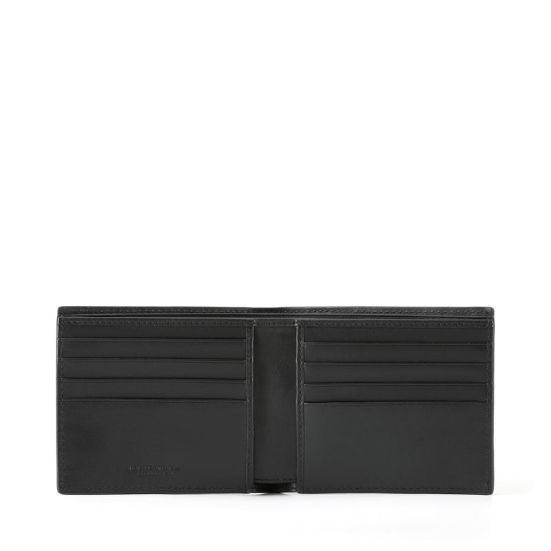 Signature Intrecciato Leather Short Wallet