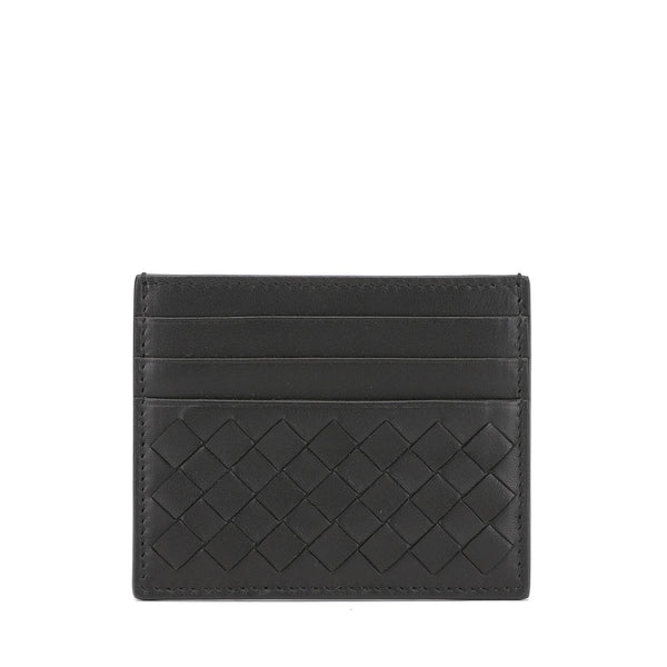 Bottega Veneta Signature Intrecciato Leather Card Holder