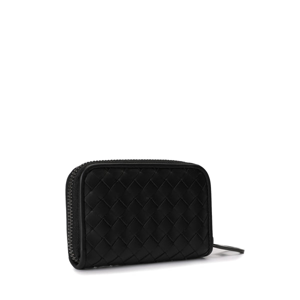 Intrecciato Leather Coin Purse