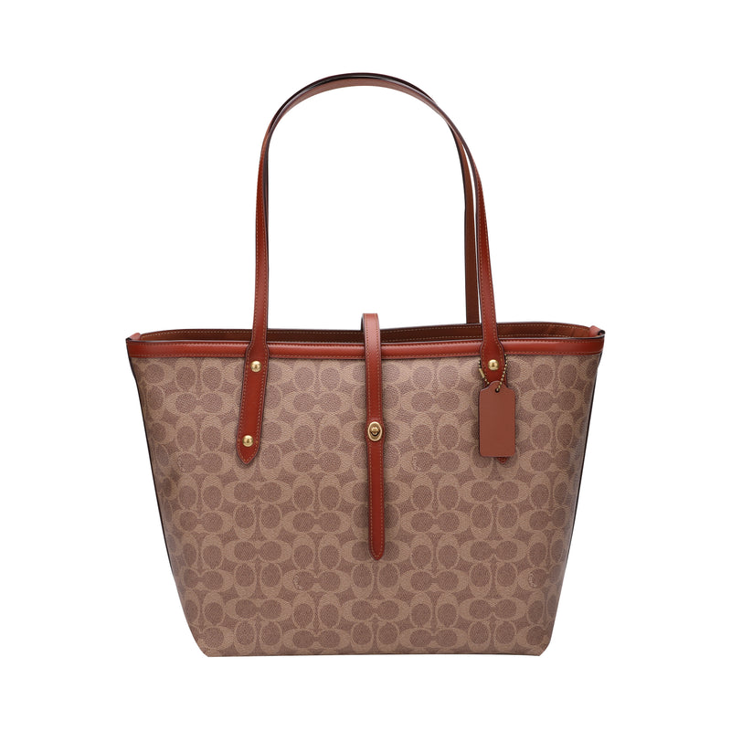 Coach Market Tote In Signature Canvas